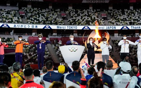 """""""THE OLYMPIC GAMES TOKYO 2020          ARE THE OLYMPIC GAMES OF HOPE, SOLIDARITY AND PEACE…""""                            – Dr. THOMAS BACH"""